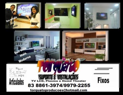 Fotos De Sala Com Tv Lcd Na Parede ~ Suporte e instalação tv lcd, plasma, tv led na parede em João