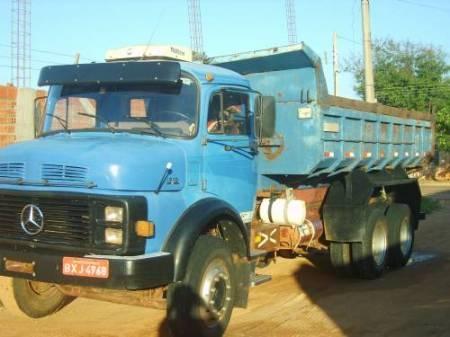 Mb 1313 1984 cacamba truck, revisada, pneus novos