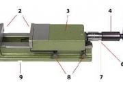 Morsa hidraulica 170 mm para máquinas operatrizes