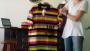 Camisa Polo Listrado com estampa