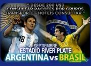 BRASIL X ARGENTINA EM BUENOS AIRES INGRESSO E TRANSFER