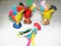 Presente, brinde, festa, Peteca colorida, artesanal,jogos eventos, decoração