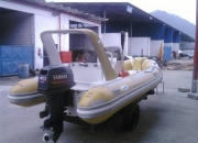 vendo bote nautica 4.50mc/Targa 2007 c/ motor 40hp yamaha