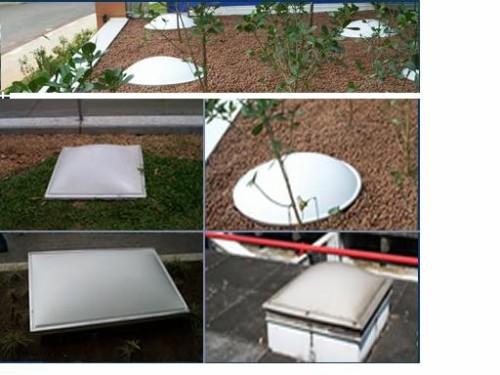 Claraboia-domo acrílico- ventilação e iluminação natural