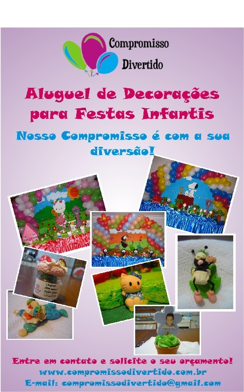 Festas infantis, decoração, alguel de festas