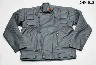 Jaqueta de couro bovino legítimo+usada pelos motociclistas