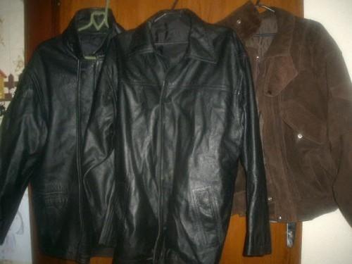 3 jaquetas de couro legítimo