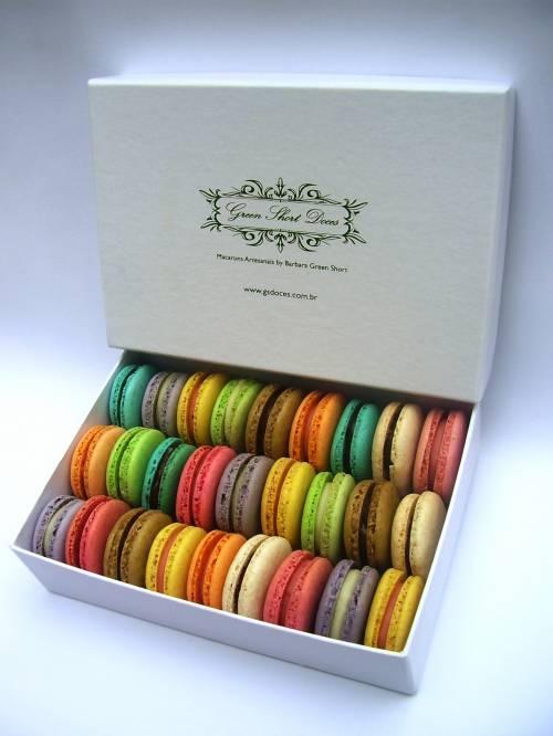 Macarons em caixas exclusivas presente green short doces sp