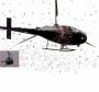 Mensagem ao vivo e homenagem com helicóptero