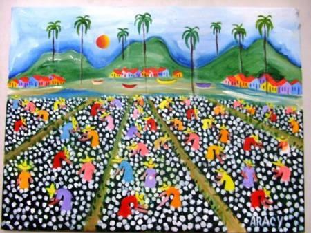Obras da artista naif aracy a venda com ajur sp