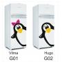 Adesivo De Geladeira Decorativo - Pinguim + Filhote Grátis