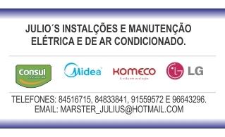 Julio's instalações e manutenções elétricas e de ar condic.