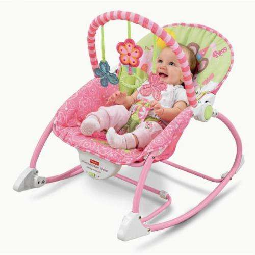 Cadeirinha de balanço - fisher price infant to toddler pink