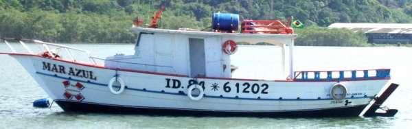 Pescaria oceânica bertioga - errx - barco mar azul