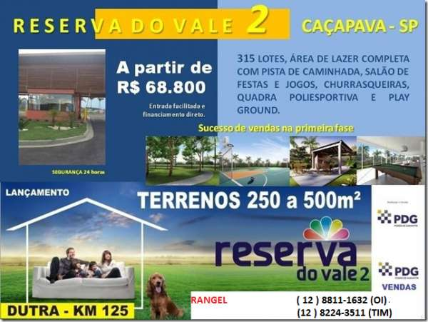 Condominio reserva do vale 2 cacapava