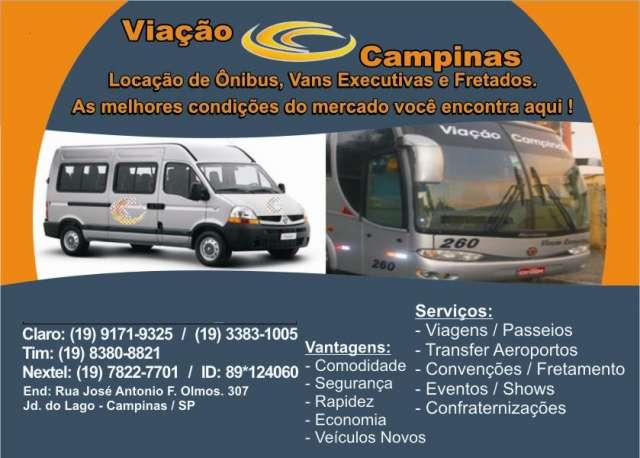 Aluguel de van executiva 15 lugares e ônibus em campinas e região (sumaré,hortolandia)