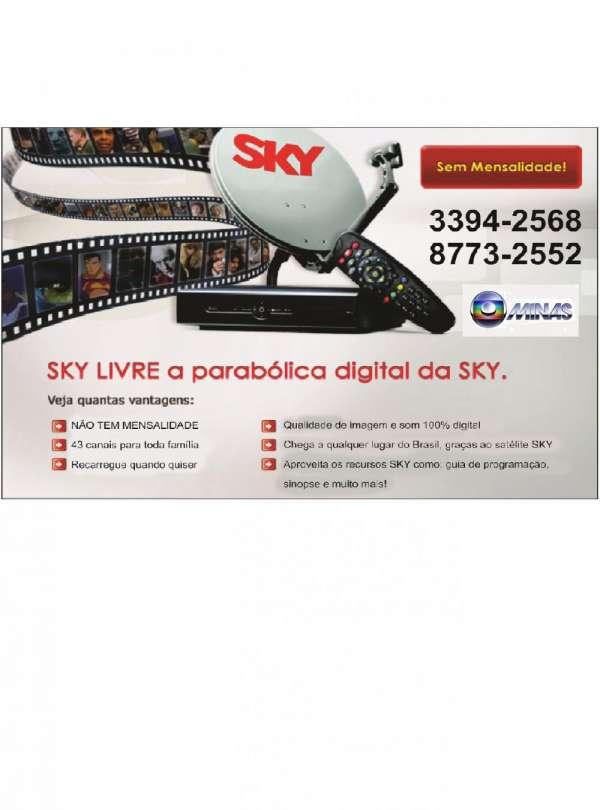 A autorizada antena sky livre,venda, instalaçao, habilitação em contagem