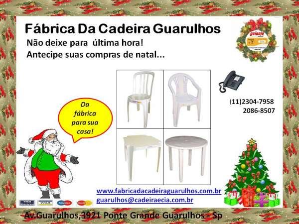 Cadeiras e mesas de plástico direto da fábrica!