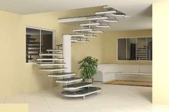 Escadas pré-moldadas em concreto polido