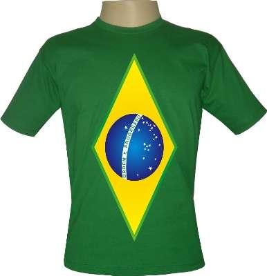 Camiseta e almofada do brasil - copa do mundo - estampas iradas