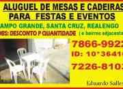 ALUGUEL DE MESAS E CADEIRAS CAMPO GRANDE RJ