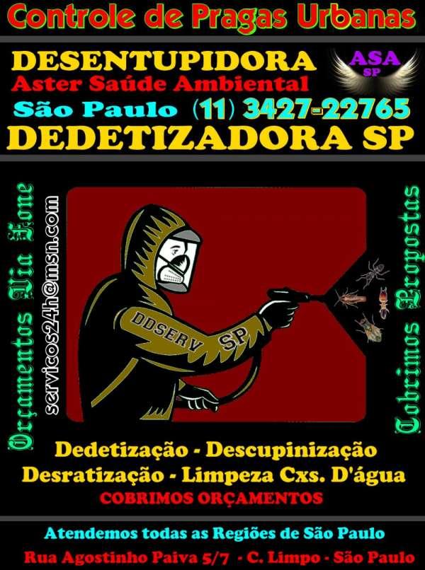 Desentupidoras são paulo-11-3427-2276 dedetizadoras sp