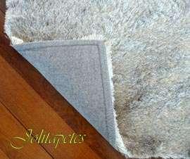 Tapetes naturais de couro e tapetes sintéticos tipo shaggy de luxo