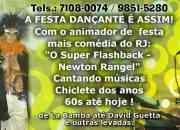 Festas musica ao vivo rj - cantor para festa rj - newton rangel