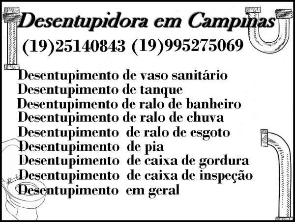 Desentupidora em campinas(19)25140843 desentupidora tk
