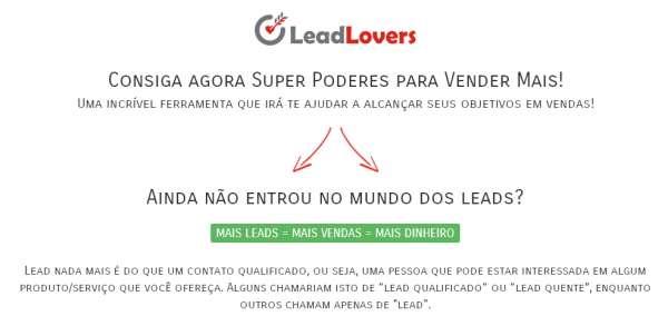 Lead lovers pro 3 ferramenta para alavancar suas vendas