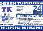 Desentupidora em Valinhos (19) 25140843 ou (19)995275069 Atendimento Imediato