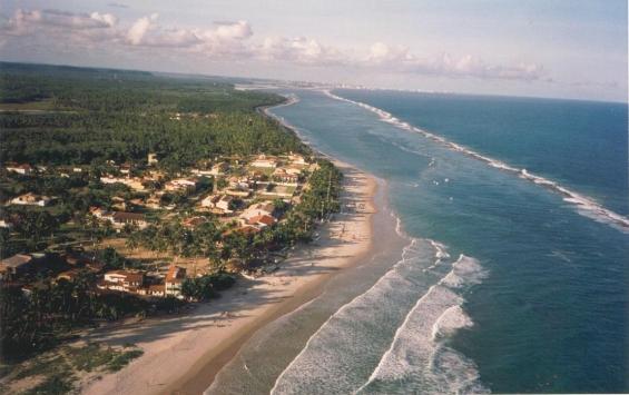 Vista aerea praia do frances