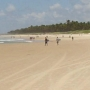Praia fronte a pousada