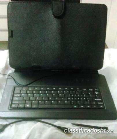Tenho para venda !! capa case couro com teclado usb para tablet até 10 bom preço