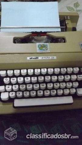 Fotos de Tenho para venda em bom estado maquina de escrever olivetti letteta 25 semi novo 2