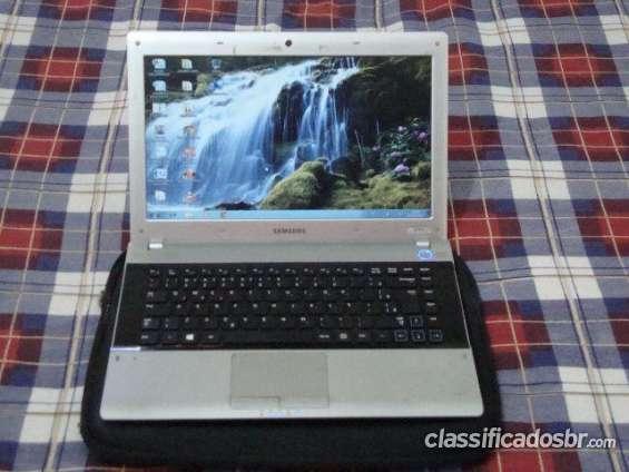 Atenção! notebook samsung processador amd e 300+ 2gb + windows 7 em otimo estado ac cartao credito em perfeito estado
