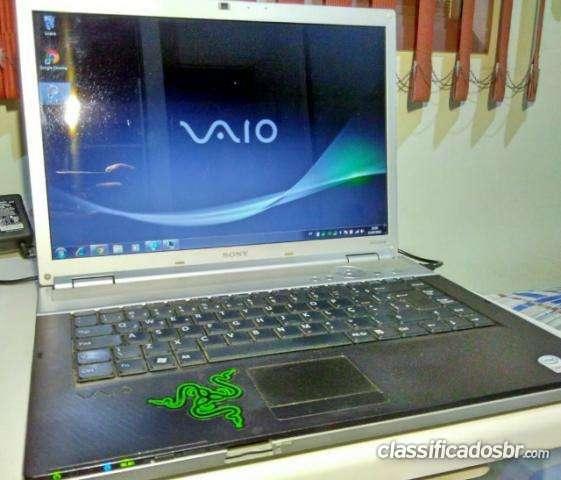 Estou vendendo notebook sony vaio core 2 duo 4gb 160gb hd conservado lindo aceito troca