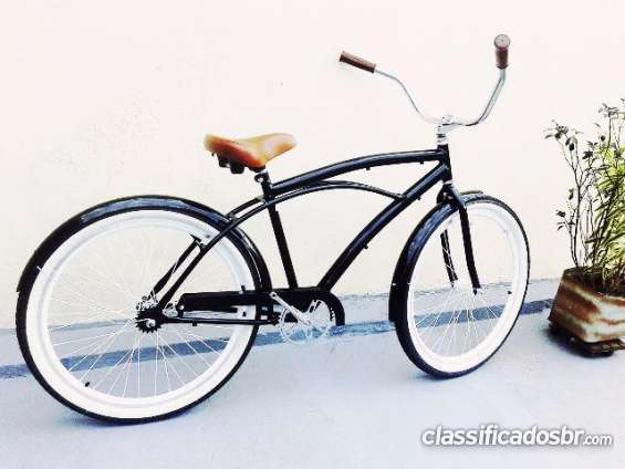 Hoje eu tenho para venda bicicleta retrô caiçara beach bike aro 26 - n caloi você pode ver hoje