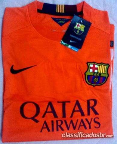 Preço barato camisa barcelona laranja original promoçao