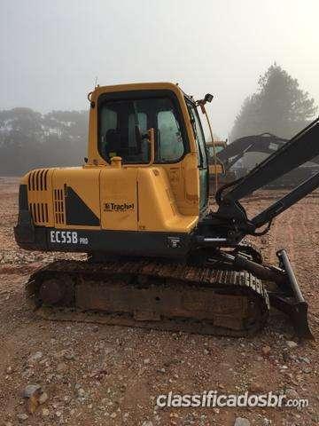 Excelente oferta mini escavadeira ec55b - 2011 primeira mão