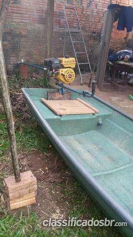 Tengo a la venta barco de fibra 4 mts com motor 7 hp bufalo acepto propuesta