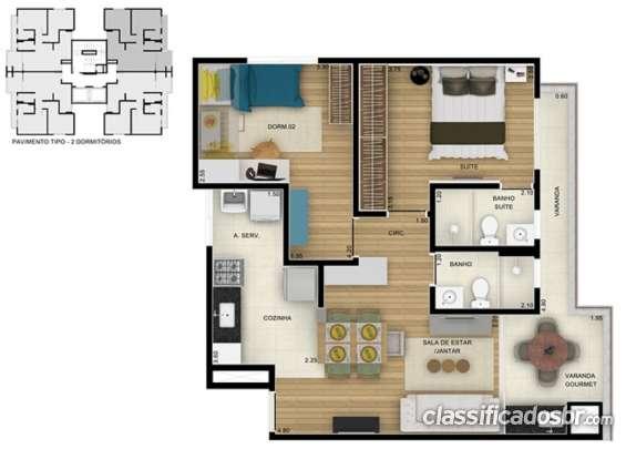 Fotos de Planta apto 65m² 2 dormitórios