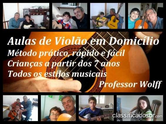 Curitiba - aulas particulares de violao/guitarra/baixo para crianças
