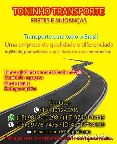 Fretes e mudancas para todo brasil