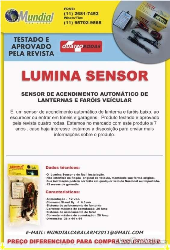 Sensor de acendimento automático de lanternas e farois baixo