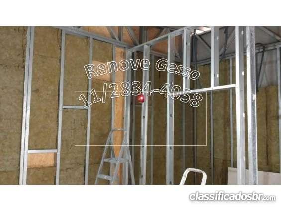 Drywall? 11/2834-4058 gesso acartonado paredes divisorias forros santana parada inglesa