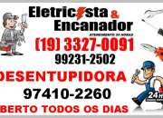 3327-0091 encanador e eletricista no jardim aurélia em campinas