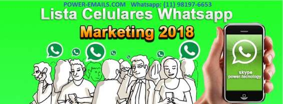 Lista celulares whatsapp marketing 2019
