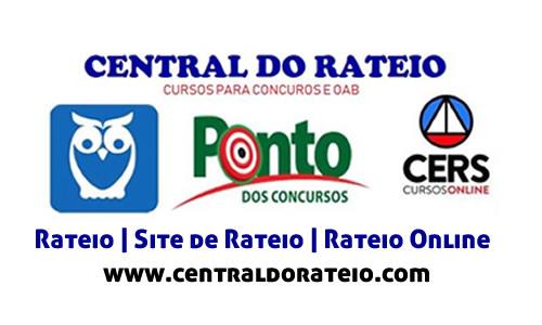 Rateio, central do rateio, site de rateio, rateio online, rateios online, sites de rateio, rateios oab, rateio segunda fase oab, rateios concursos, cursos para concursos rateios