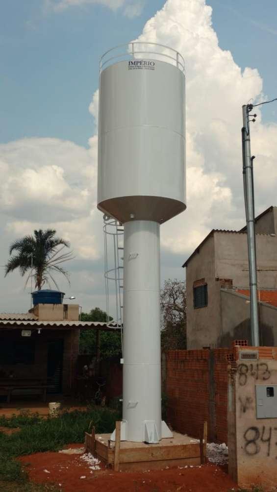 Reservatório tipo taça coluna seca
